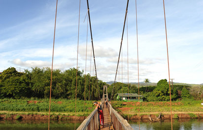 Swinging Bridge at Hanapepe