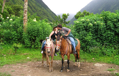 Horseback Riding Above Waipio