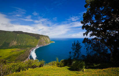 Lookouts: Polulu  and  Waipio Valley