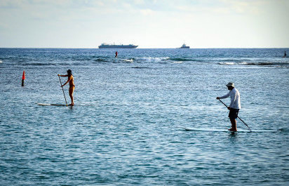 Paddle and Surf Lessons in Ka'anapali